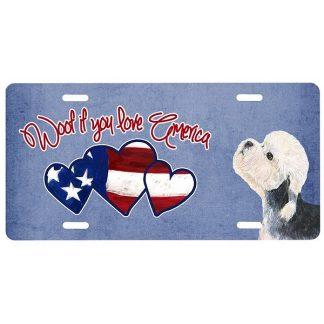 Dandie Dinmont License Plate - Woof