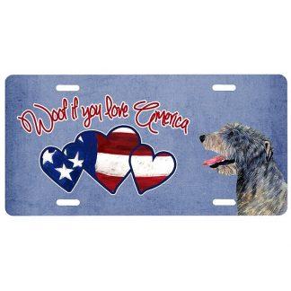 Irish Wolfhound License Plate - Woof