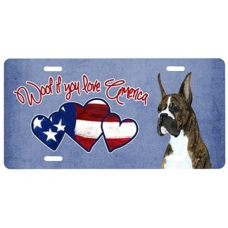 Boxer License Plate - Woof