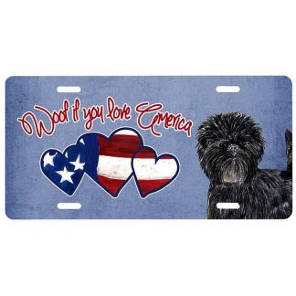 Affenpinscher License Plate - Woof