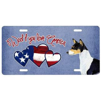 Basenji License Plate - Woof II
