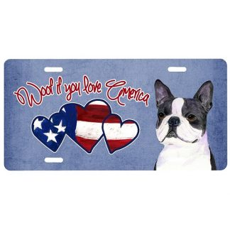 Boston Terrier License Plate - Woof II