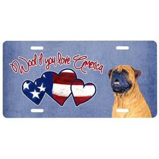 Bullmastiff License Plate - Woof II