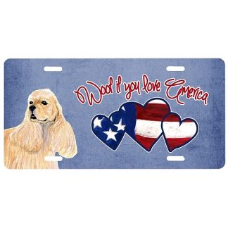 Cocker Spaniel License Plate - Woof