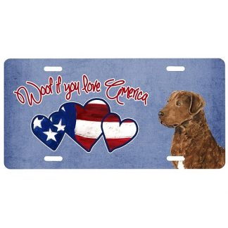 Chesapeake Bay Retriever License Plate - Woof