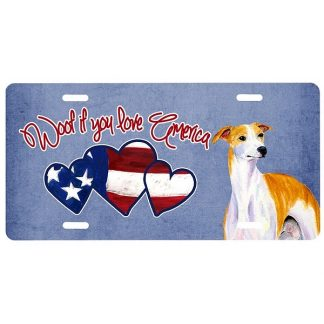 Whippet License Plate - Woof