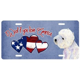 West Highland Terrier License Plate - Woof II