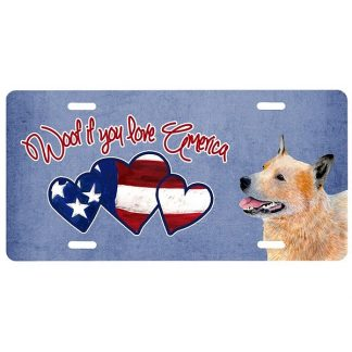 Australian Cattle Dog License Plate - Woof II