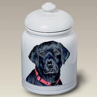 Black Lab Dog Treat Cookie Jar II