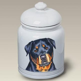 Rottweiler Dog Treat Cookie Jar II