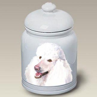 White Poodle Dog Treat Cookie Jar II