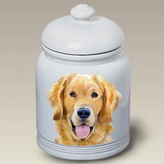 Golden Retriever Dog Treat Cookie Jar II