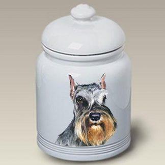 Schnauzer Dog Treat Cookie Jar II