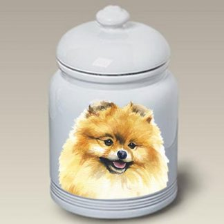 Pomeranian Dog Treat Cookie Jar II