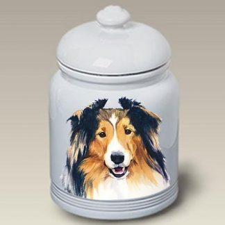 Shetland Sheepdog Dog Treat Cookie Jar II