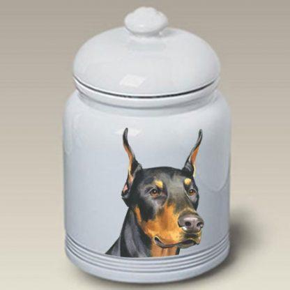 Doberman Pinscher Dog Treat Cookie Jar II