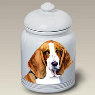 Basset Hound Dog Treat Cookie Jar II
