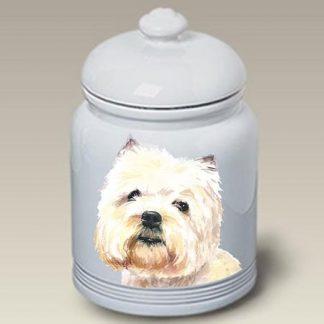 West Highland Terrier Dog Treat Cookie Jar II
