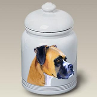 Boxer Dog Treat Cookie Jar (Uncropped) II