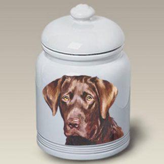 Chocolate Lab Dog Treat Cookie Jar II