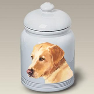 Yellow Lab Dog Treat Cookie Jar II