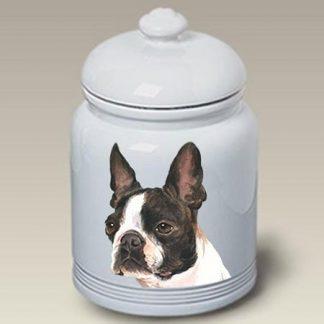 Boston Terrier Dog Treat Cookie Jar II