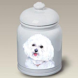 Bichon Frise Dog Treat Cookie Jar II
