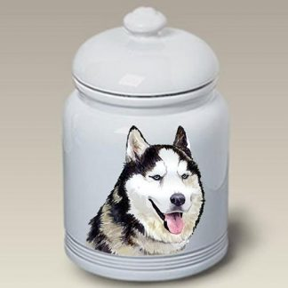 Siberian Husky Dog Treat Cookie Jar II