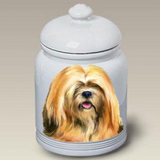 Lhasa Apso Dog Treat Cookie Jar II