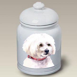 Maltese Dog Treat Cookie Jar II