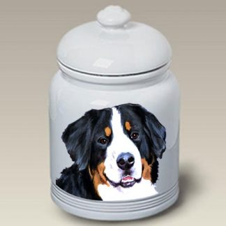 Bernese Mountain Dog Dog Treat Cookie Jar II