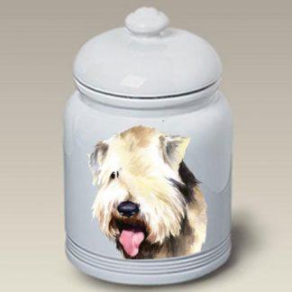 Soft Coated Wheaten Dog Treat Cookie Jar II