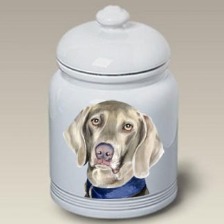 Weimaraner Dog Treat Cookie Jar II