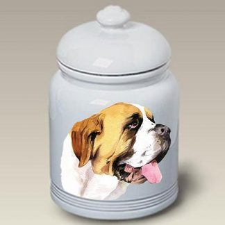 Saint Bernard Dog Treat Cookie Jar II
