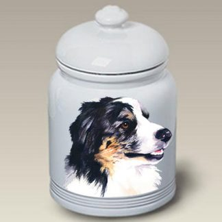 Australian Shepherd Dog Treat Cookie Jar II