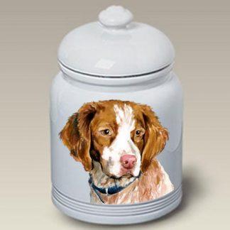 Brittany Dog Treat Cookie Jar II