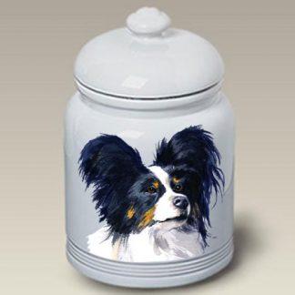 Papillon Dog Treat Cookie Jar II (Tri)