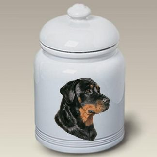 Rottweiler Dog Treat Cookie Jar