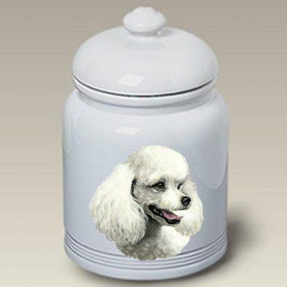 White Poodle Dog Treat Cookie Jar