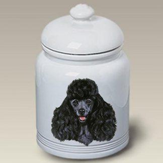 Black Poodle Dog Treat Cookie Jar
