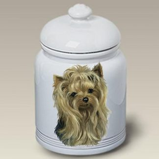 Yorkshire Terrier Dog Treat Cookie Jar