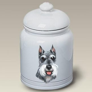 Schnauzer Dog Treat Cookie Jar