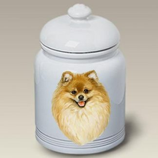 Pomeranian Dog Treat Cookie Jar