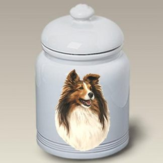 Shetland Sheepdog Dog Treat Cookie Jar