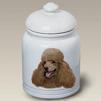 Apricot Poodle Dog Treat Cookie Jar