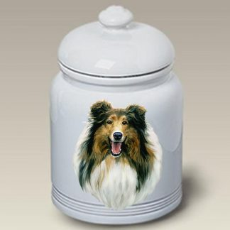 Collie Dog Treat Cookie Jar