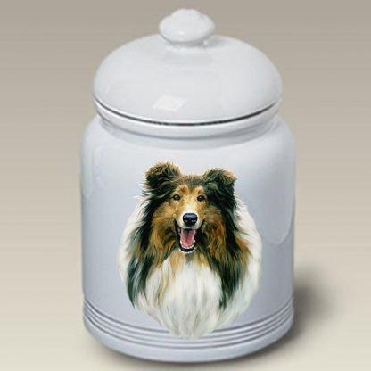 Collie Dog Treat Cookie Jar