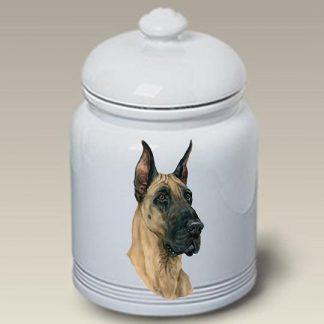Great Dane Dog Treat Cookie Jar