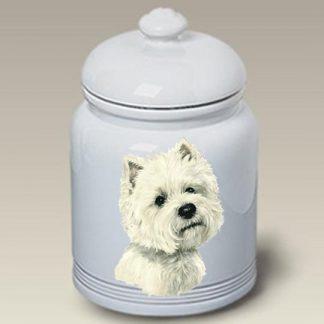 West Highland Terrier Dog Treat Cookie Jar