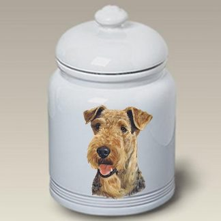 Airedale Terrier Dog Treat Cookie Jar